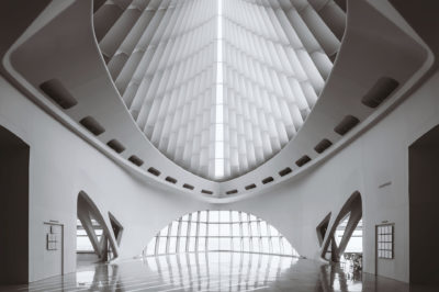 Windhover Hall at the Milwaukee Art Museum.  Day 260 of my 365 photo a day project.  Copyright 2016 Scott Norris Photography scottnorrisphotography.com